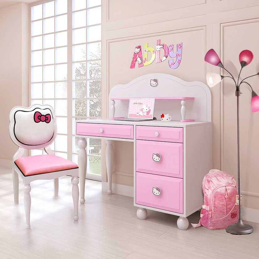 Dreamfurniture Com Hello Kitty Desk W Hutch Chair