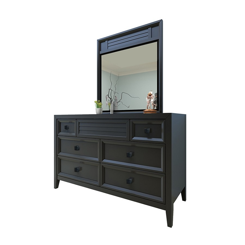 broadway dresser and mirror black