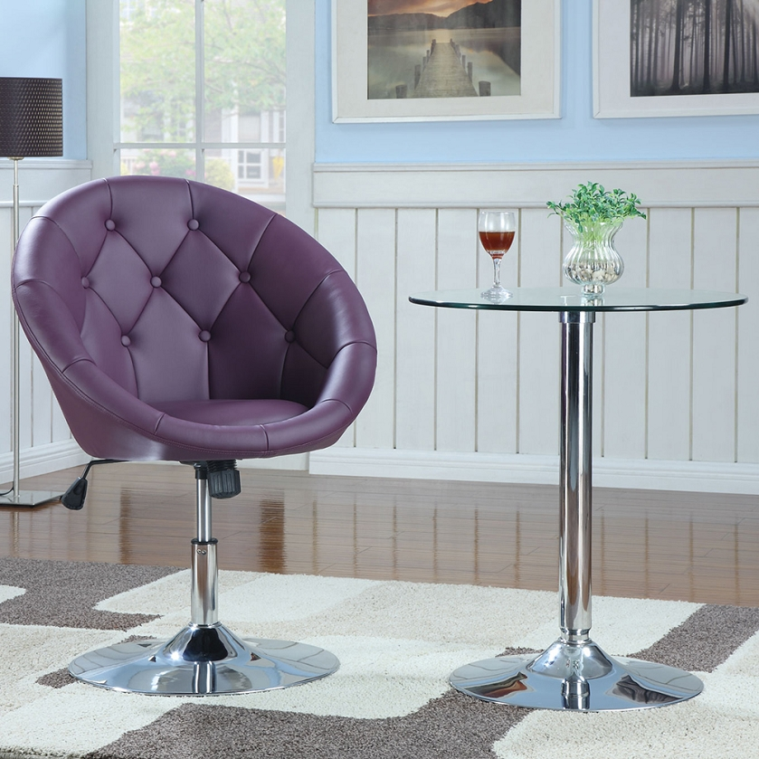Stupendous Coaster 102580 Round Swivel Chair Purple Ncnpc Chair Design For Home Ncnpcorg