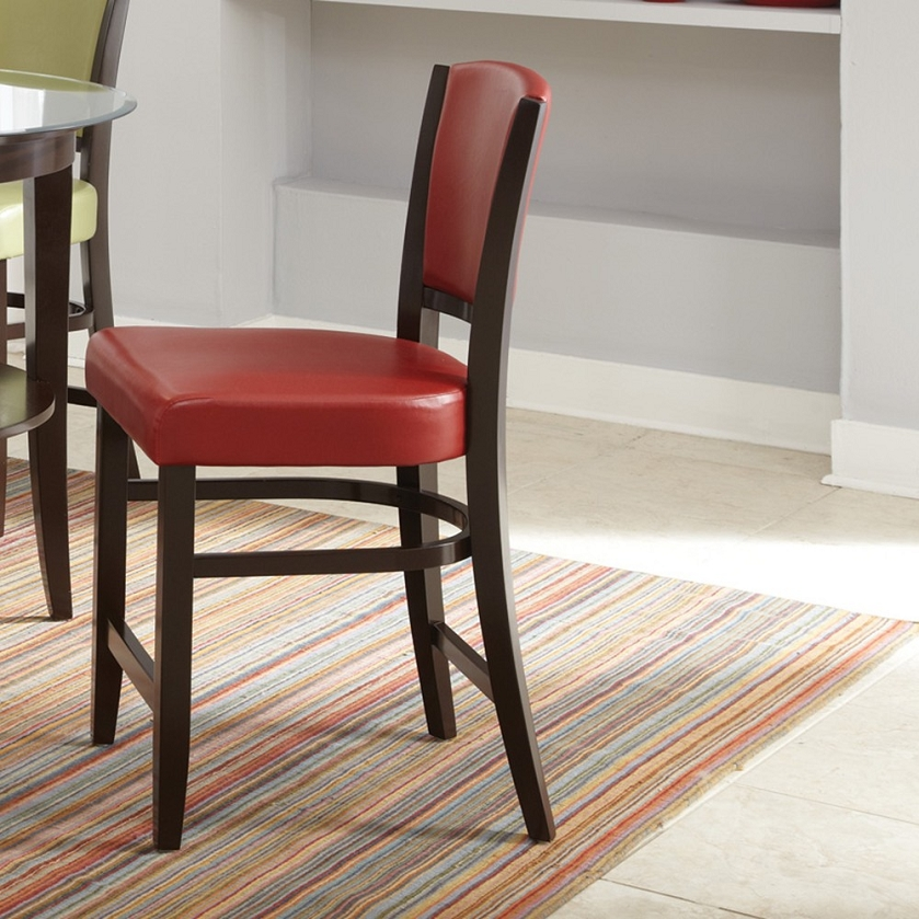 Dreamfurniture Com 103689 Counter Height Stool Red Set