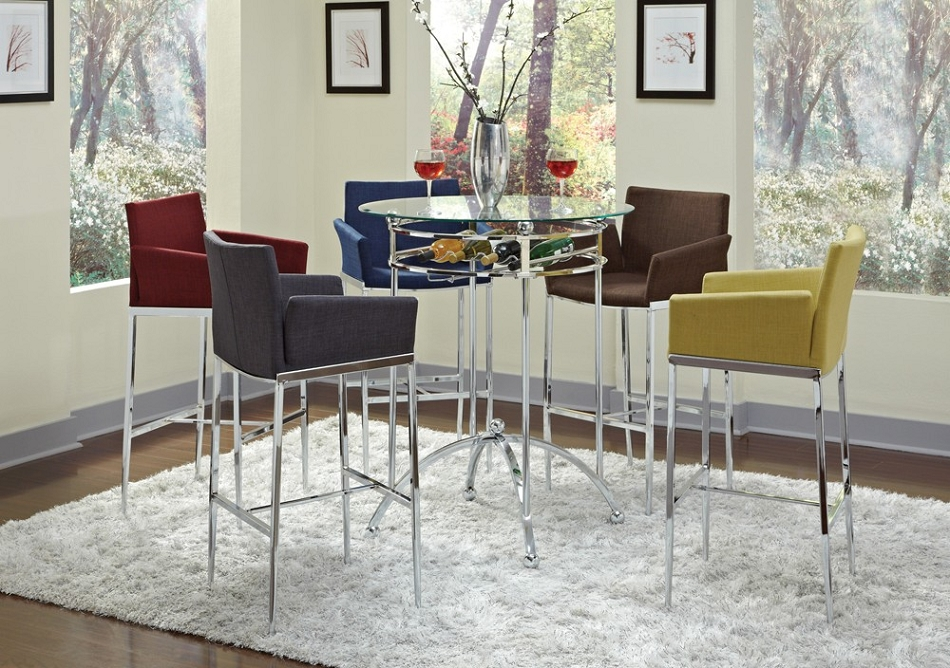 Dreamfurniture Com 120335 Modern Bar Height Table Set