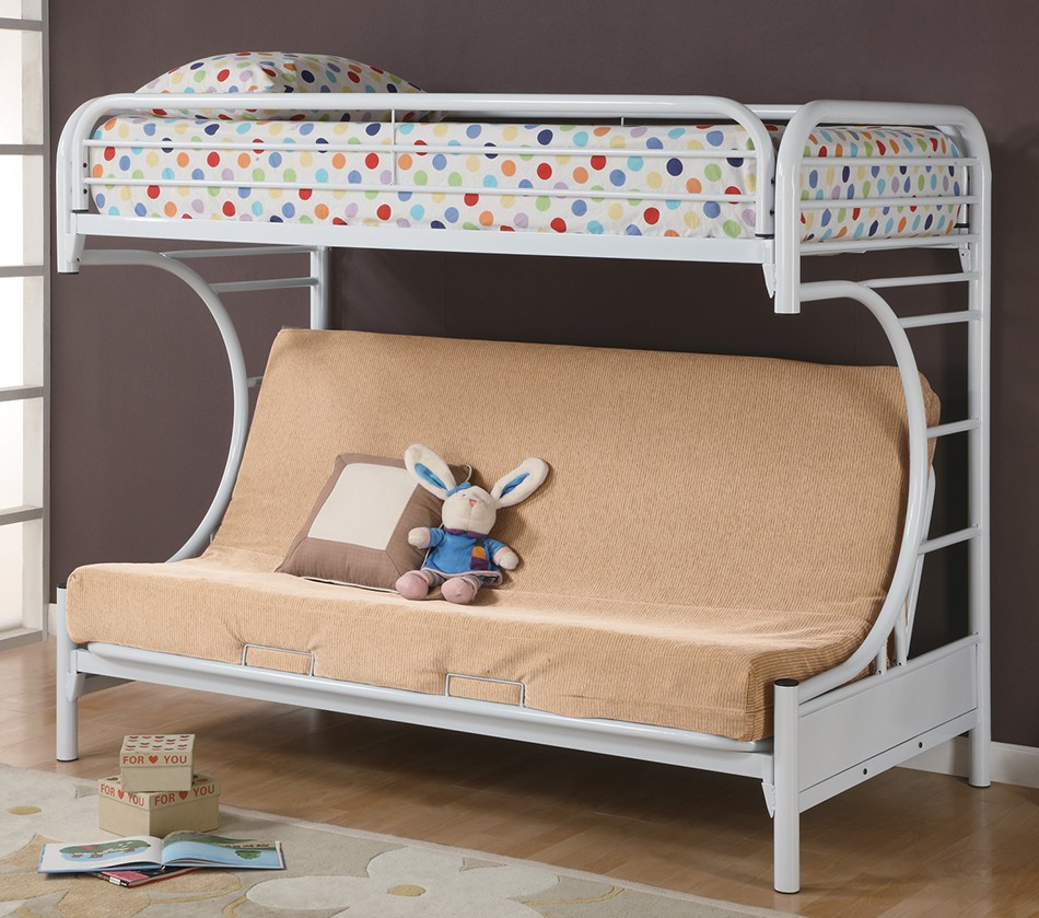 Lakeland mills twin over queen bunk bed amp reviews wayfair - Dreamfurniture Fordham C Style Twin Over Full Futon