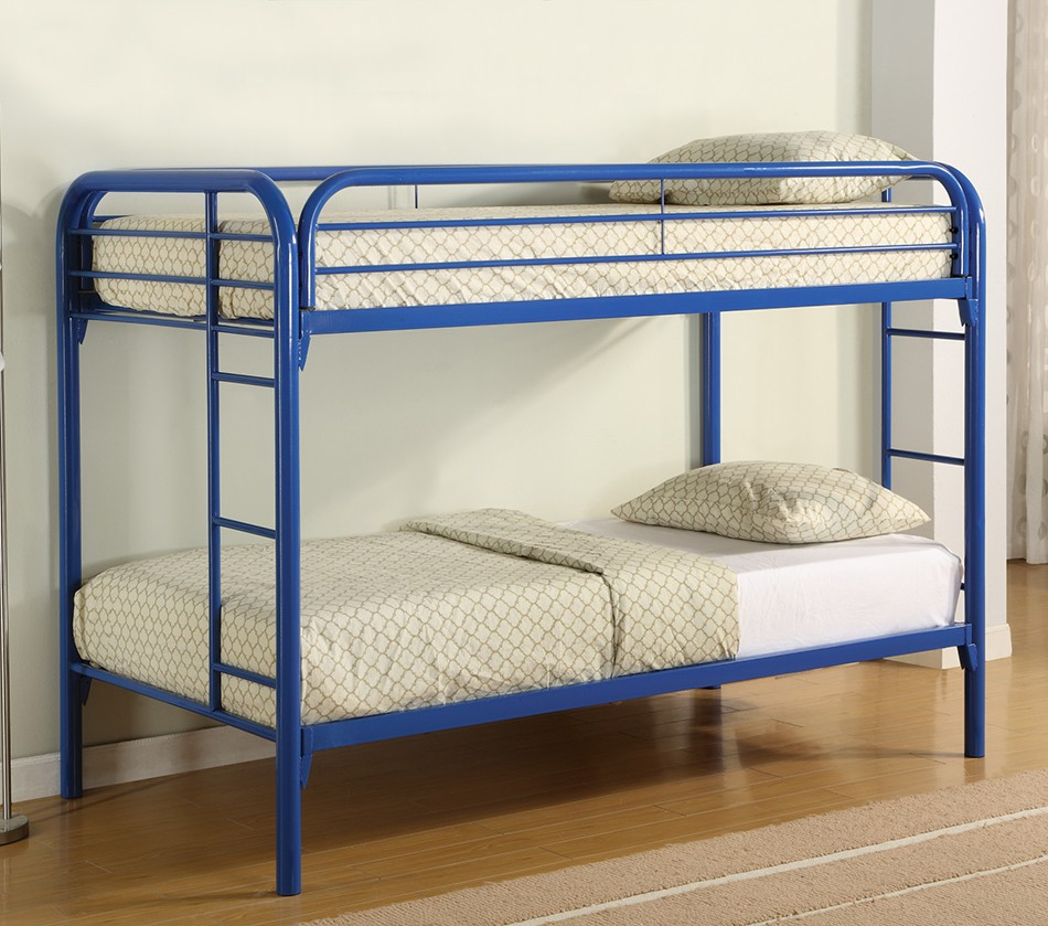 Dreamfurniture Com Fordham Twin Over Twin Bunk Bed With