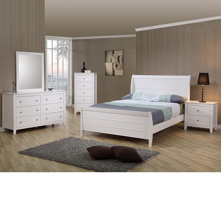 com sandy beach youth sleigh bedroom set in white finish