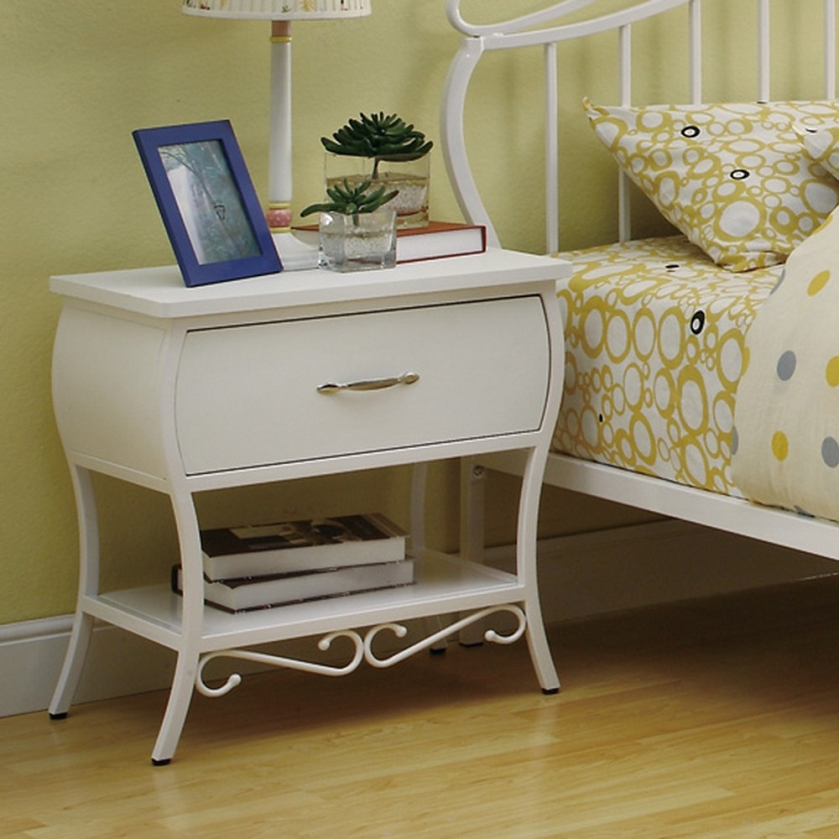 Metal nightstand cool i absolutely with metal nightstand for Metal night stands bedroom