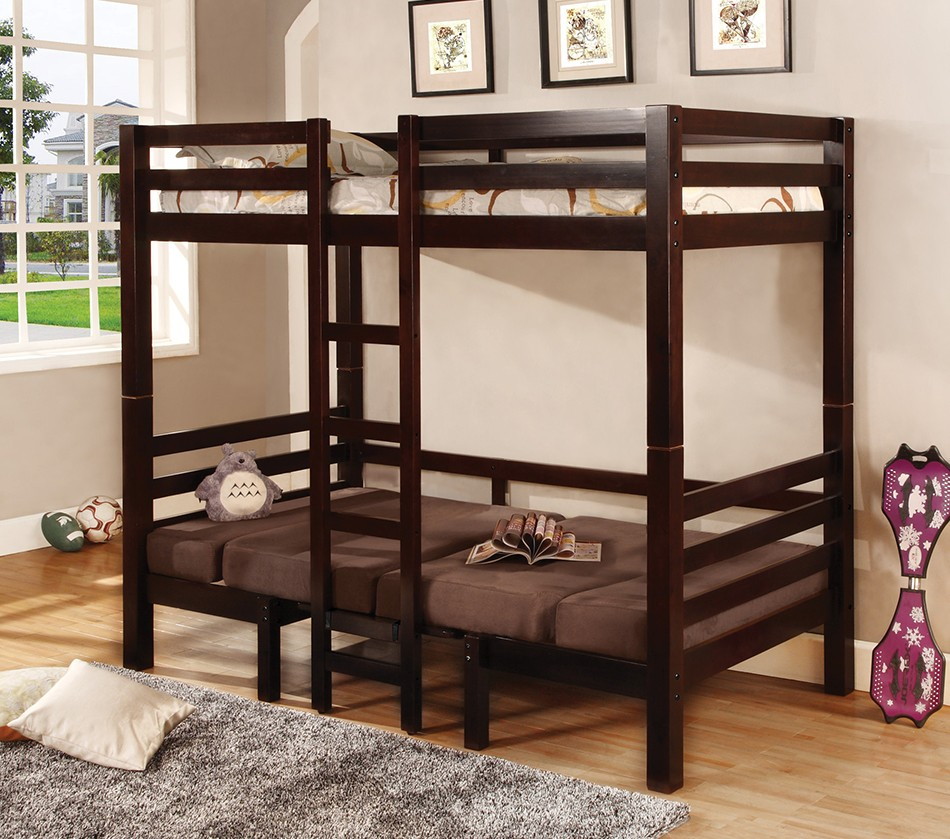 Dreamfurniture Com 460263 Bunks Twin Over Twin