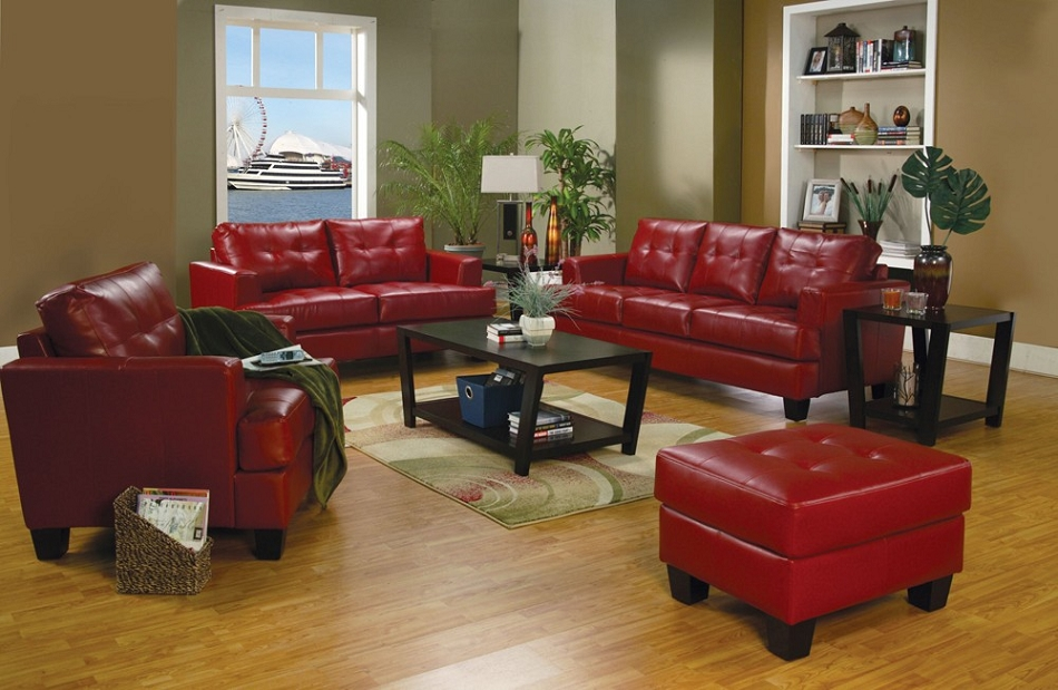 Dreamfurniture Com 501831 Samuel Contemporary Leather