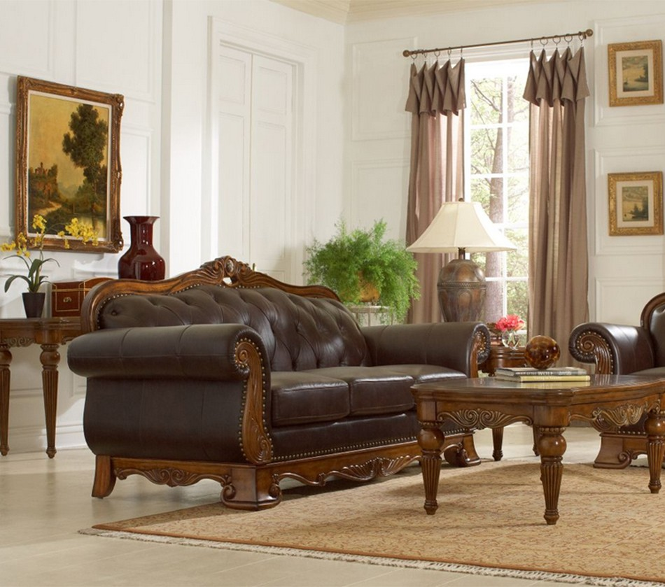 Dreamfurniture Com 14379 Golden Eagle Leather Sofa Set