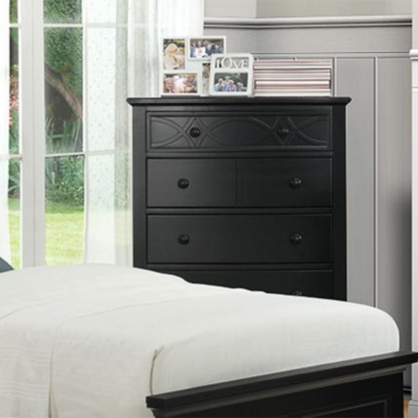 Najarian Nba Youth Bedroom In A Box: 2119TB Sanibel Chest Of Drawers Black