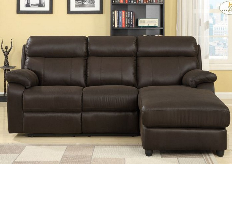 9609 gaines sectional with right for Brown sectionals with chaise
