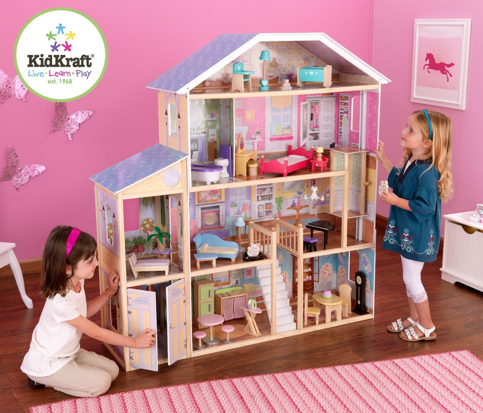 Kids Bedroom Furniture Kids Wooden Toys Online: Majestic Mansion Dollhouse