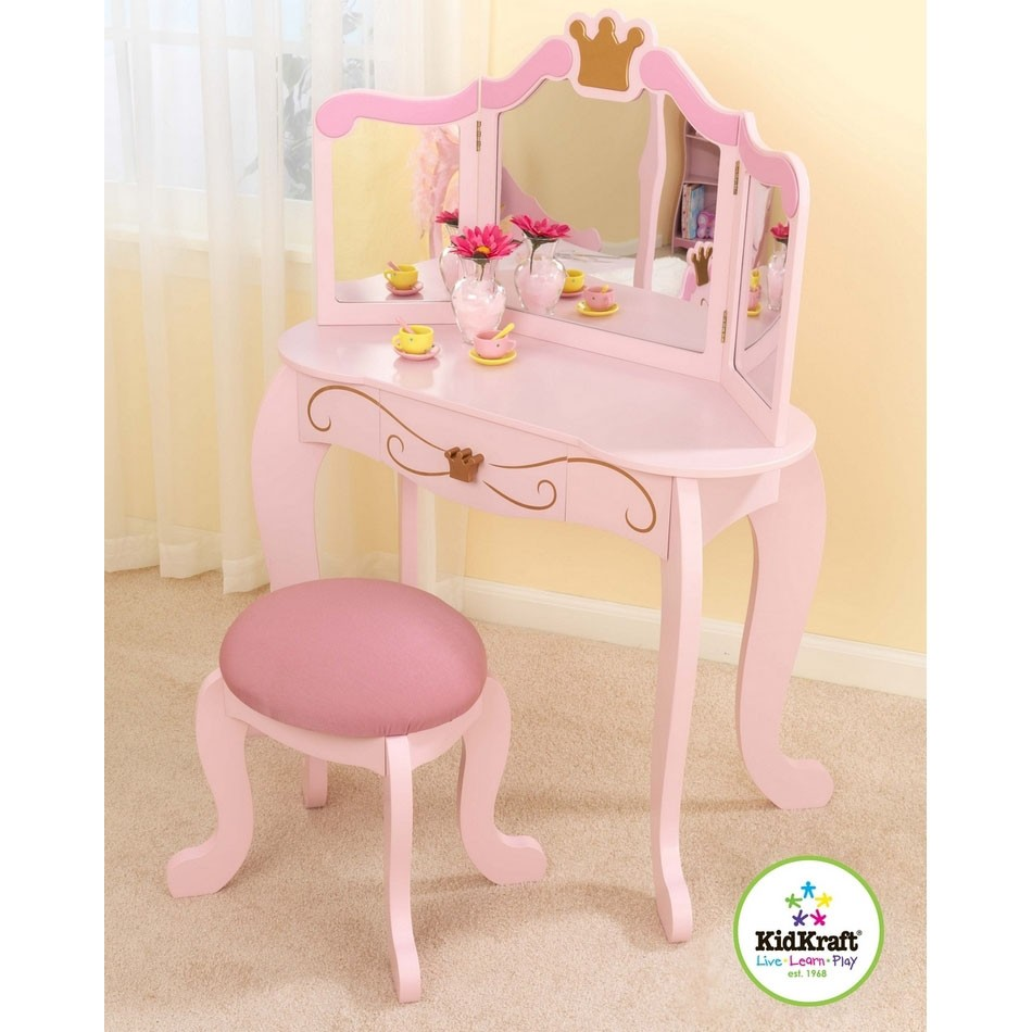 Dreamfurniture Com Princess Table Amp Stool