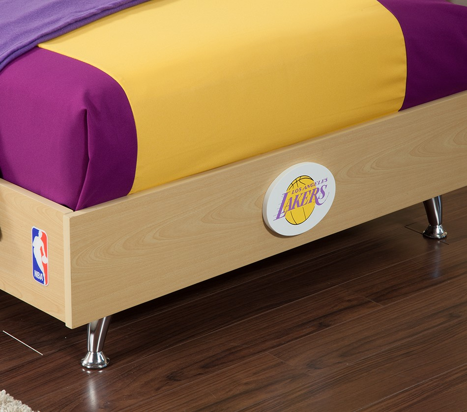 DreamFurniture NBA Basketball Los Angeles Lakers Bedroom In – Lakers Bedroom