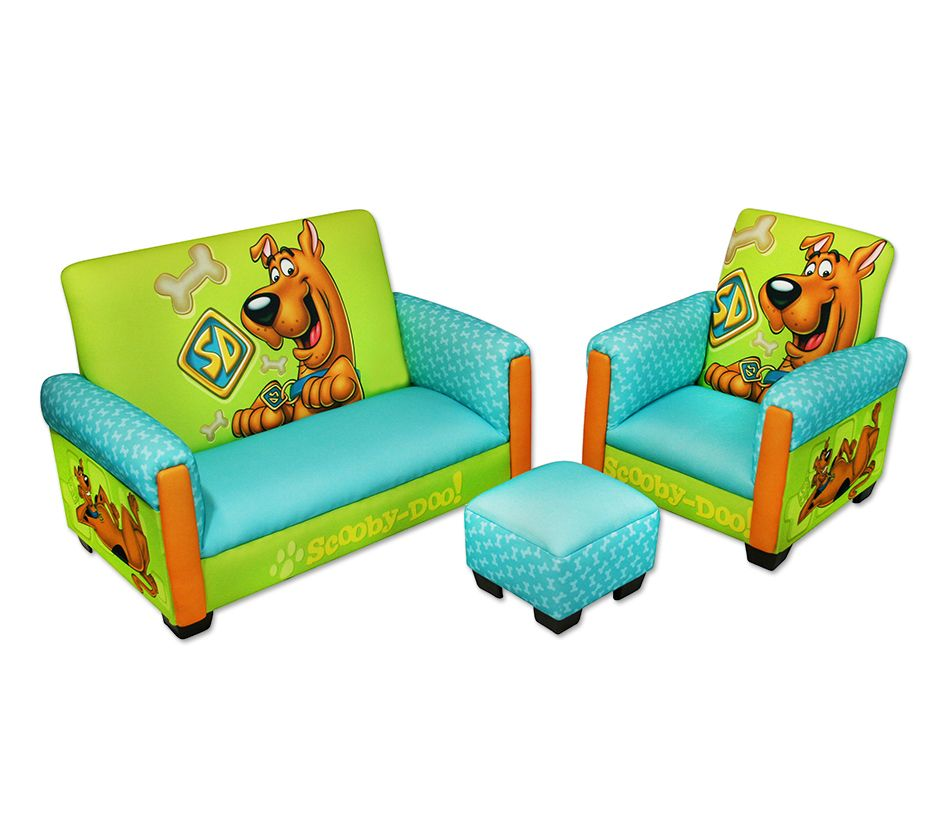 Scooby Doo Deluxe Toddler Sofa Chair And Otto  sc 1 st  Dream Furniture & DreamFurniture.com - Scooby Doo Deluxe Toddler Sofa Chair And Otto