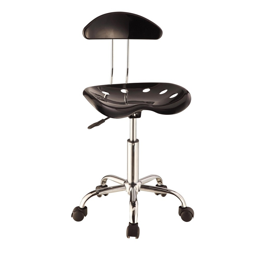 DreamFurniture Black & Chrome Adjustable Height