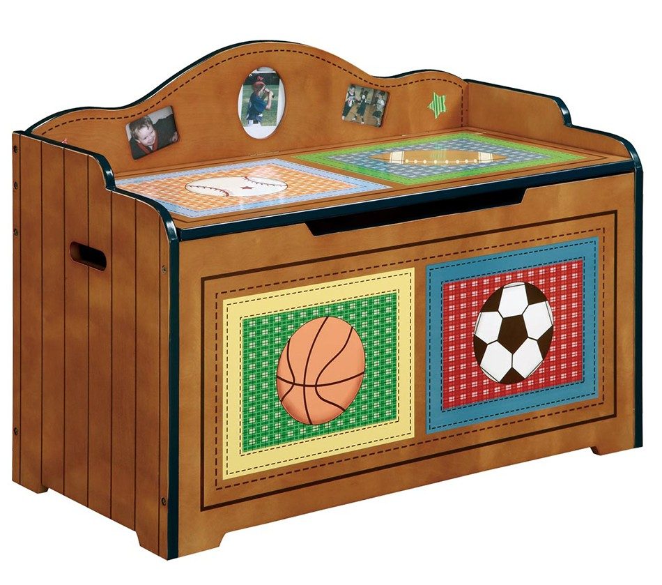 Kids Room Bedroom Storage Chest Unit Box With Lid For Sale: Teamson Kids Boys Toy Chest