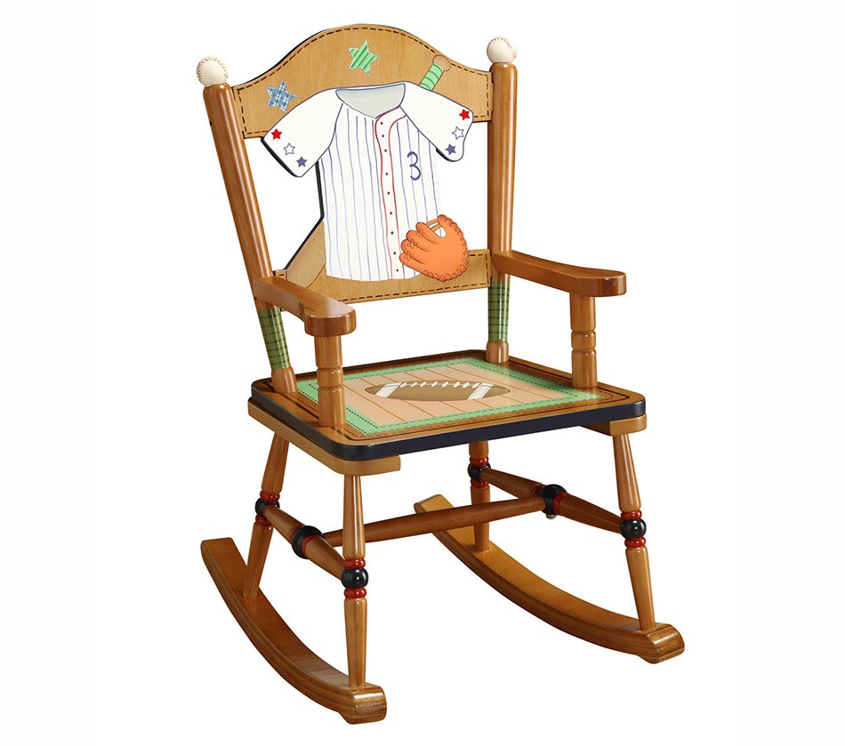 Teamson kids boys rocking chair lil for Kids chairs for boys