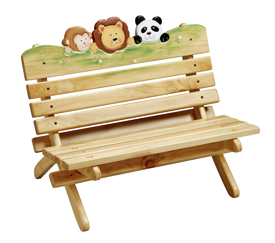 Teamson Kids Outdoor Sunny Safari Bench