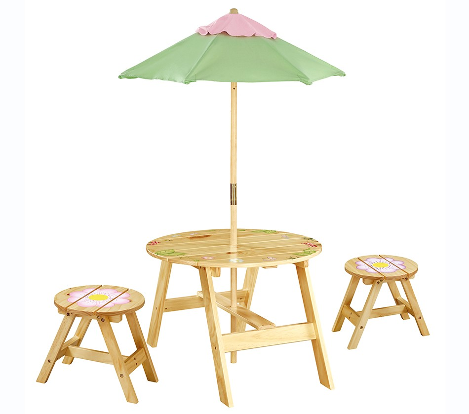 Magic Garden Table And Chair Set: Teamson Kids Girls Outdoor Table And