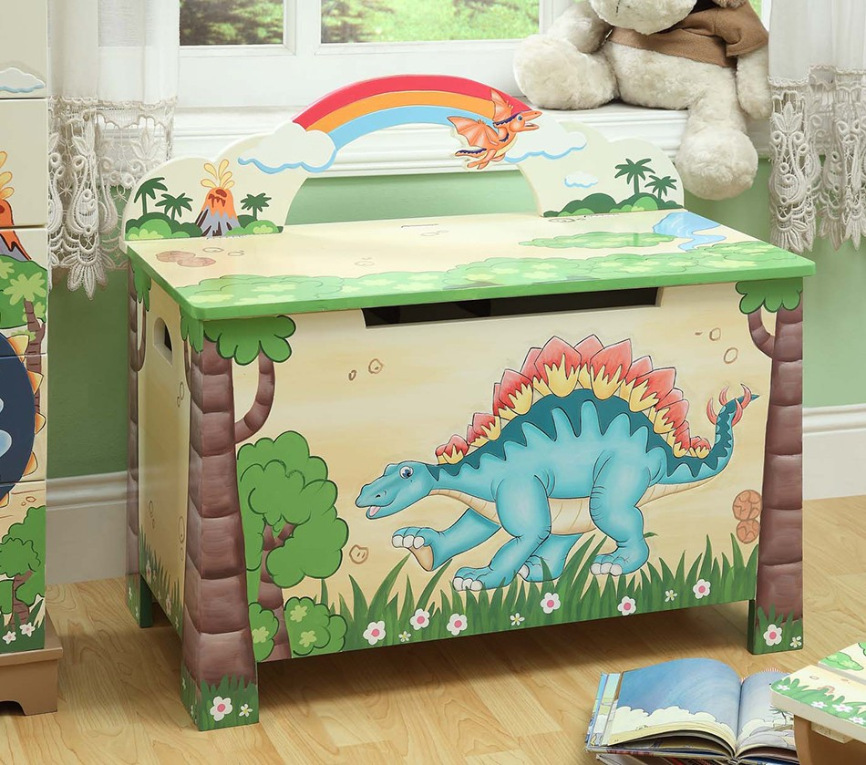 Toy Boxes For Boys : Dreamfurniture teamson kids boys toy chest