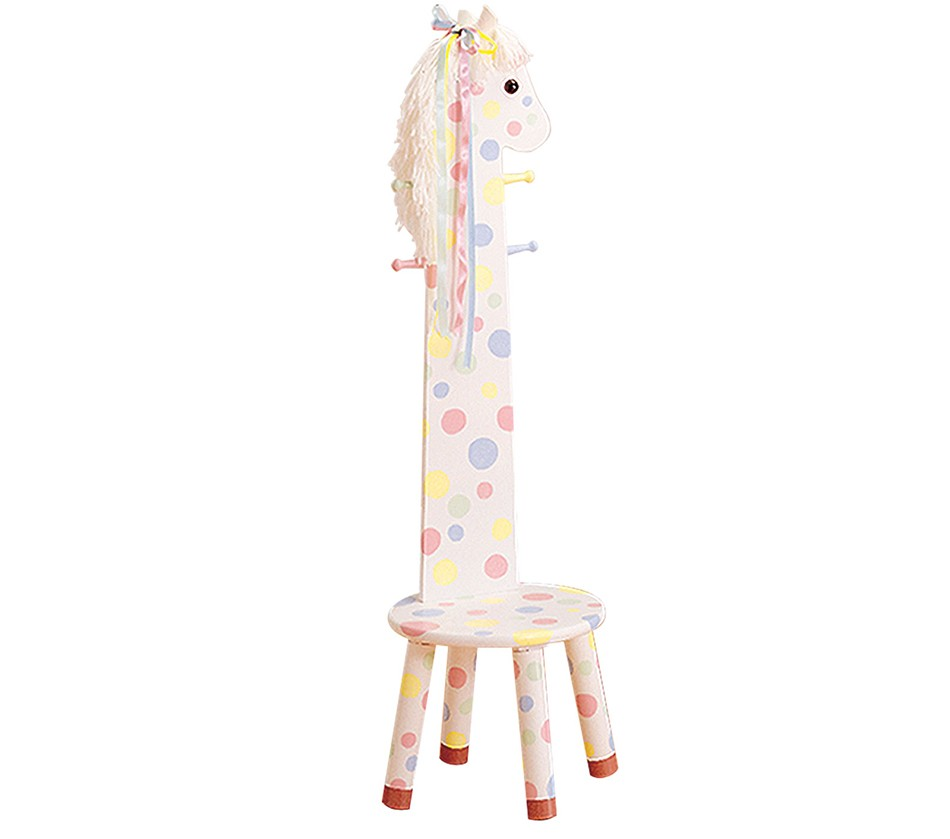 Teamson kids pony stool with coat Kids coat rack