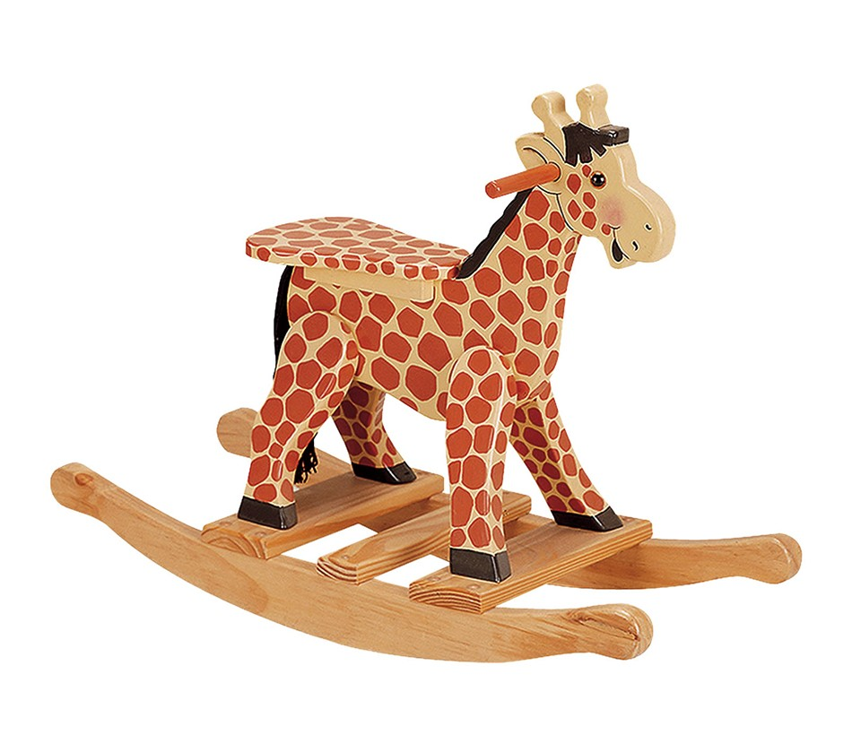 Child s hand painted rocking chair - Dreamfurniture Com Teamson Kids Giraffe Rocking Horse