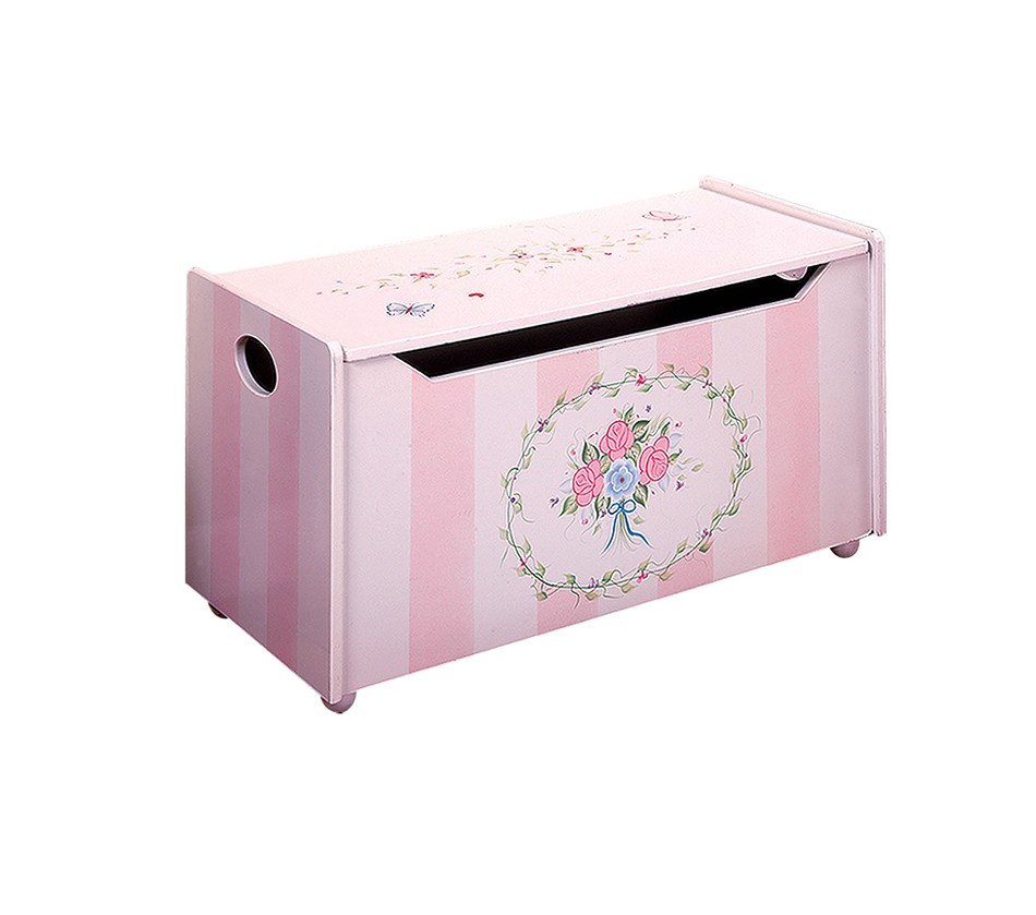 Best Toy Boxes And Chests For Kids : Dreamfurniture teamson kids girls toy chest bouquet