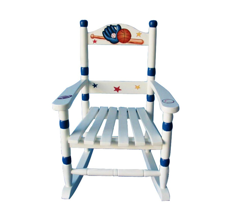 Teamson kids boys rocking chair sports for Kids chairs for boys