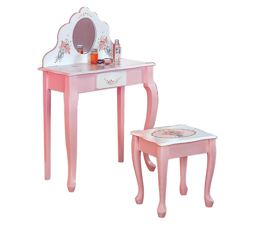Dreamfurniturecom Teamson Kids Girls Vanity And Table  sc 1 st  Castrophotos : child vanity table set - pezcame.com