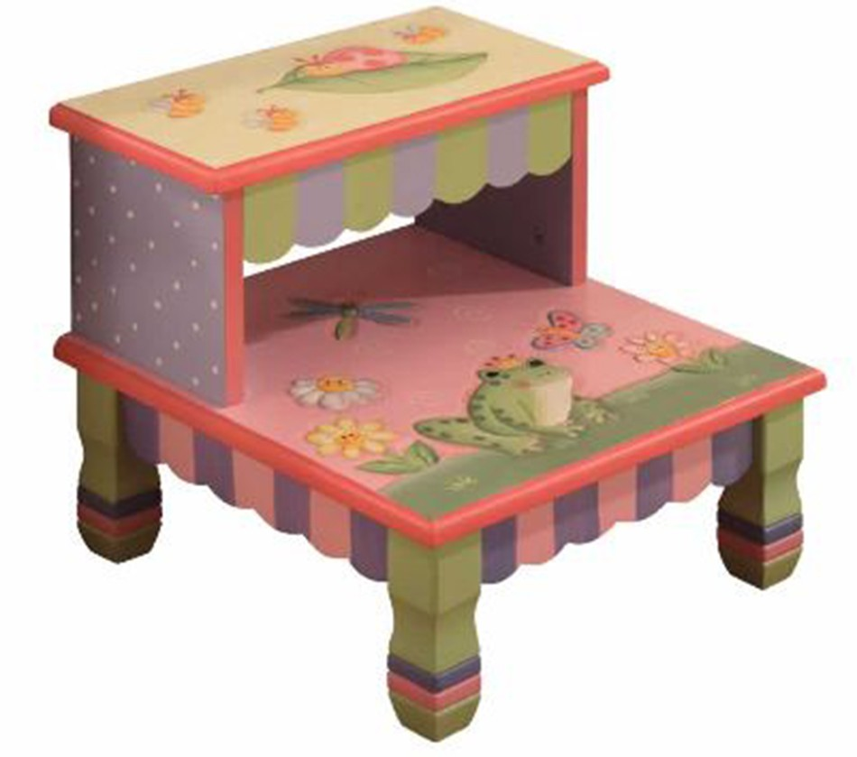 Dreamfurniture teamson kids girls step stool magic