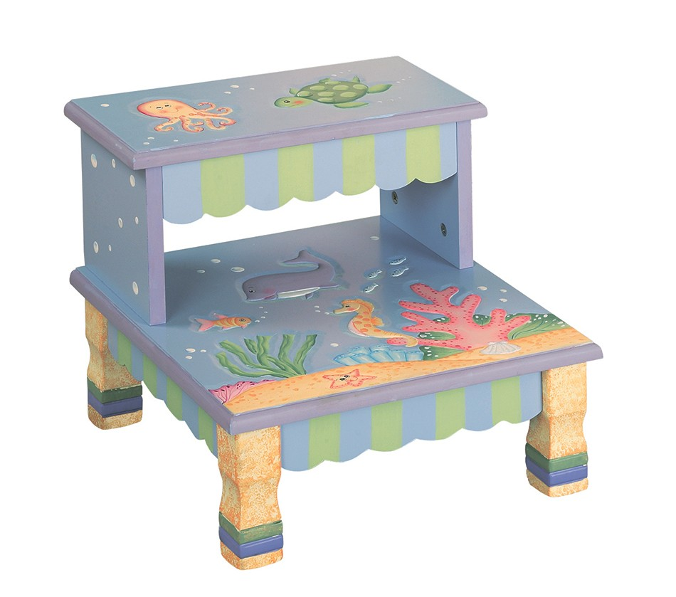 Dreamfurniture Com Teamson Kids Step Stool Under The Sea