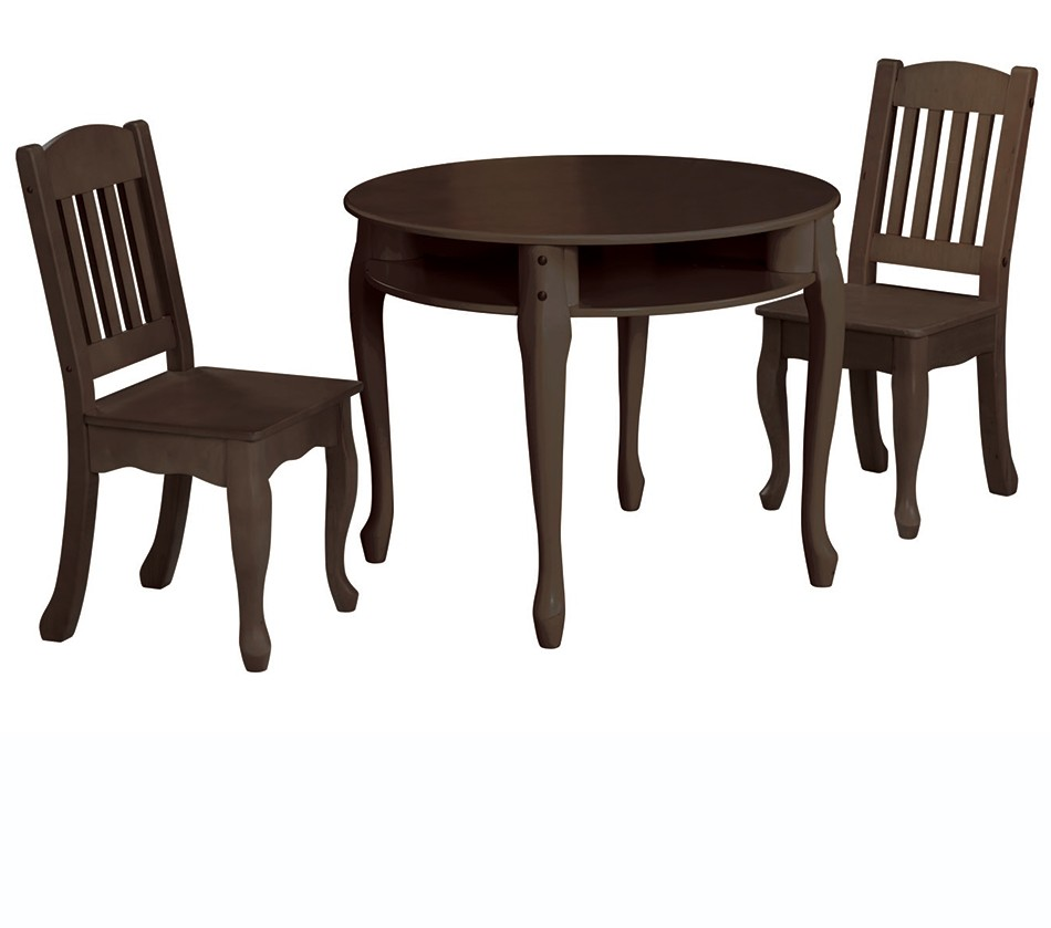 teamson kids espresso round table and