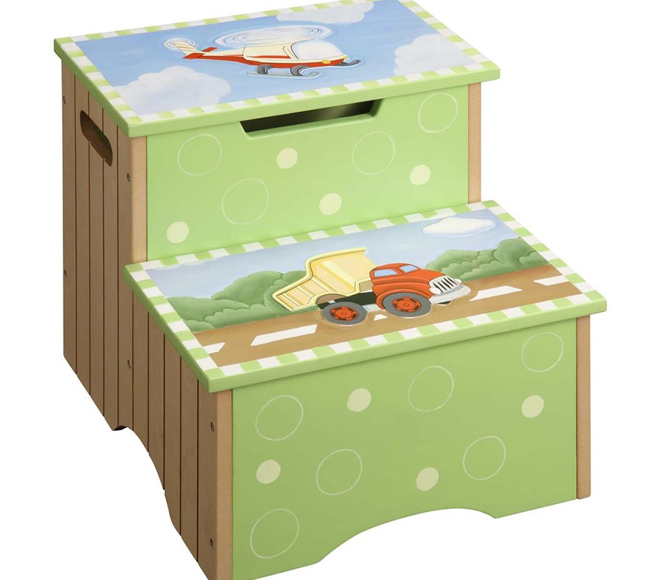 Dreamfurniture Com Teamson Kids Boys Step Stool With