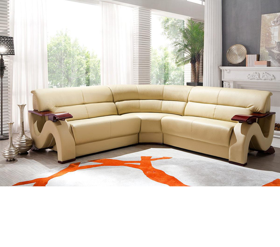 2033 1 beige modern bonded leather for Modern living room no coffee table
