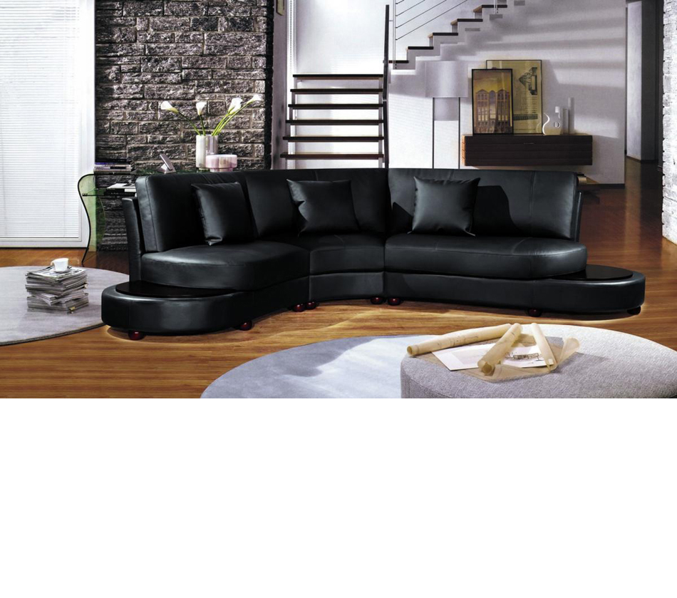 2229b modern bonded leather for Bella chaise dark brown