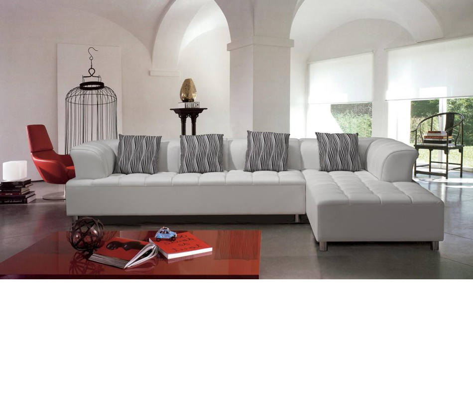 Modern Leather Sectional Sofa : ... > Sofas & Sectionals > 2235 - Modern Bonded Leather Sectional Sofa