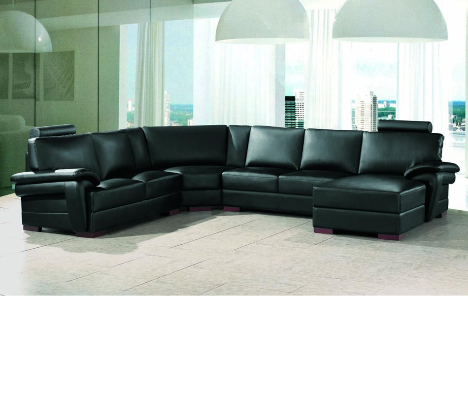 2253 modern bonded leather for Leather sectional sofa