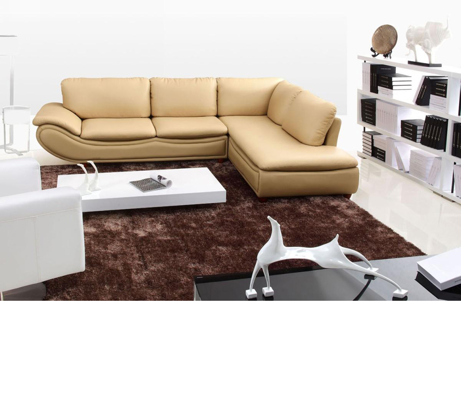 2917 Modern Bonded Leather Sectional Sofa