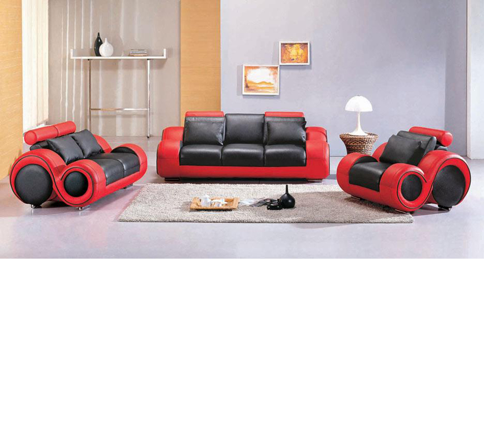 Outstanding 4088 Contemporary Black And Red Sofa Set Gmtry Best Dining Table And Chair Ideas Images Gmtryco