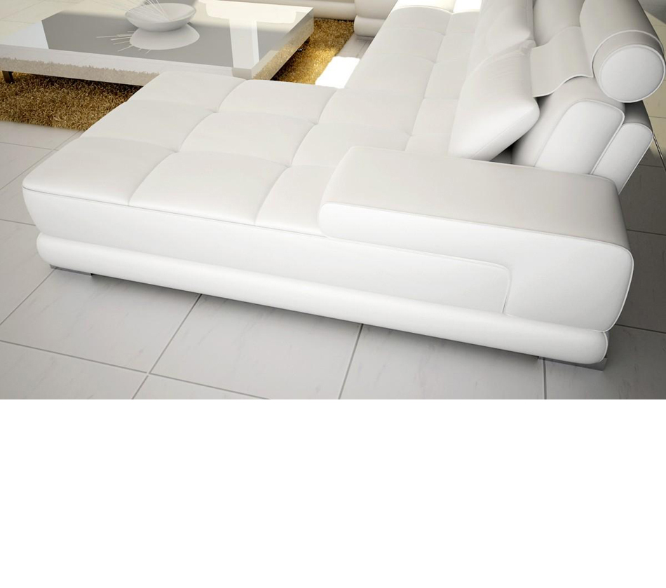 5005 Modern Bonded Leather Sectional Sofa