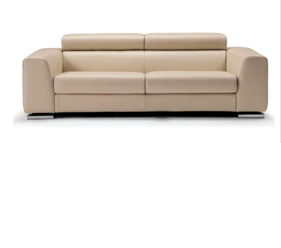 553 Modern Beige Italian Leather Sofa Set