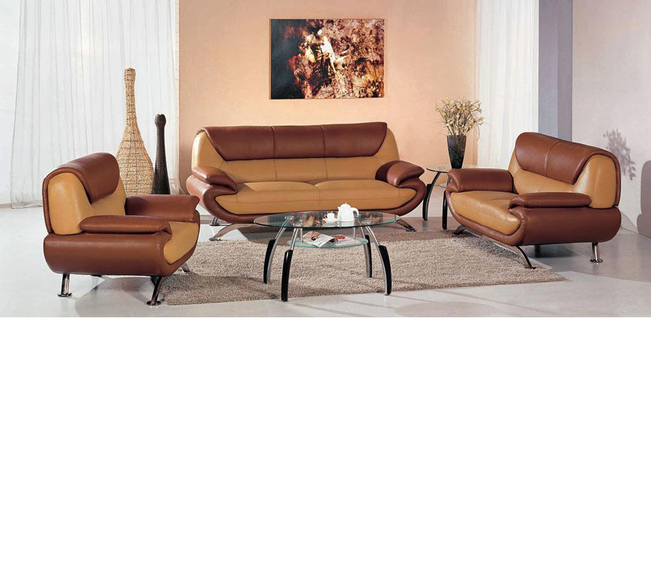 sectionals 7040 modern light brown dark brown living room furniture