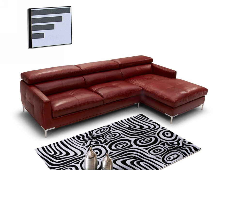 940 modern italian leather for Italian leather sofa