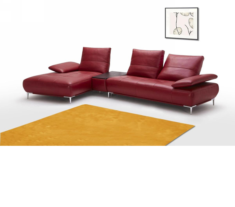 941 contemporary italian leather for Italian leather sofa