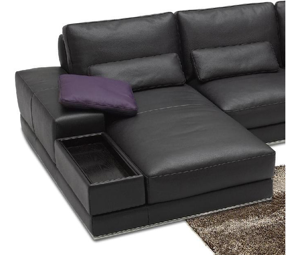 942 Contemporary Italian Leather Sectional Sofa