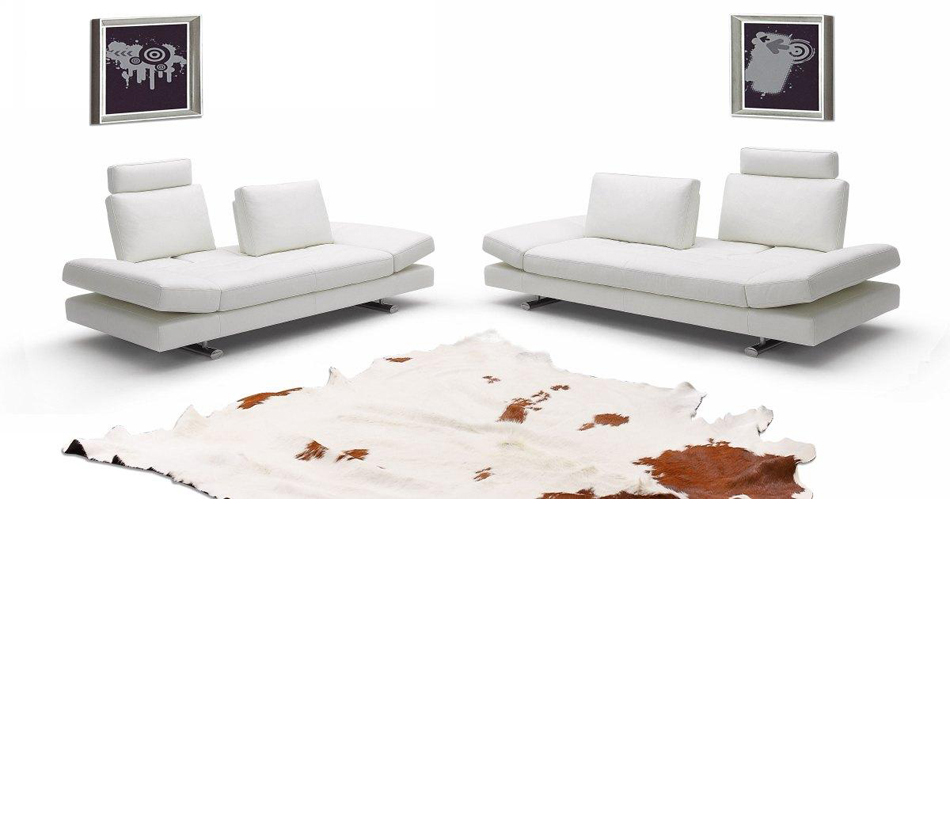 950 Contemporary Italian Leather Sofa Set