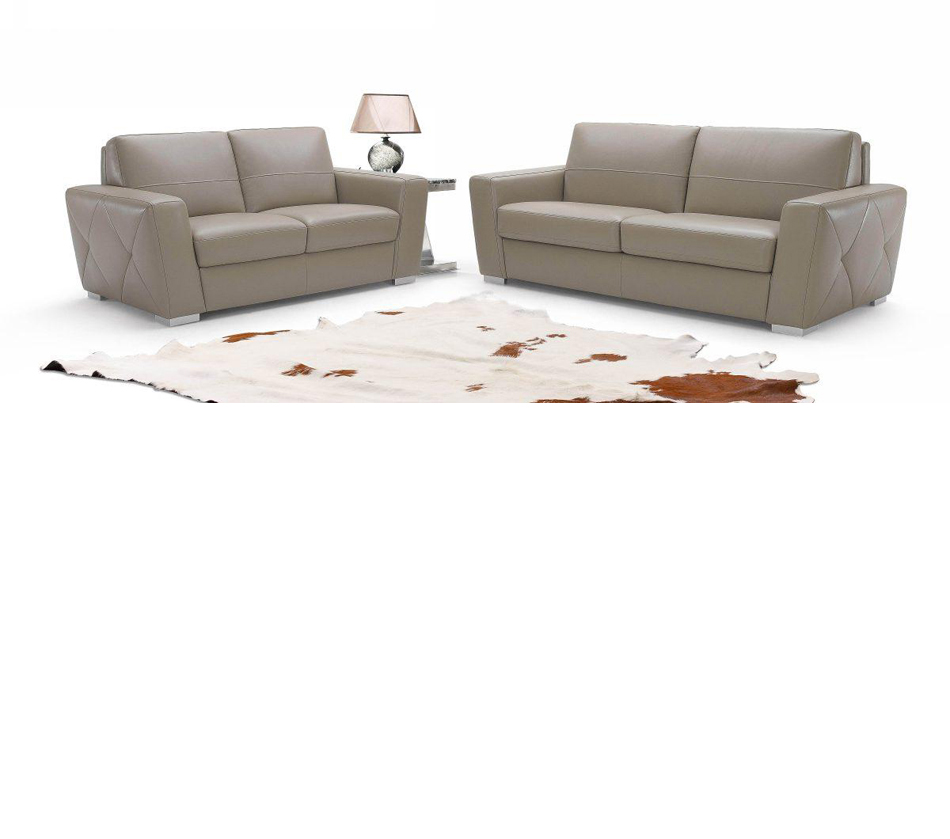 953 Modern Italian Leather Sofa Set