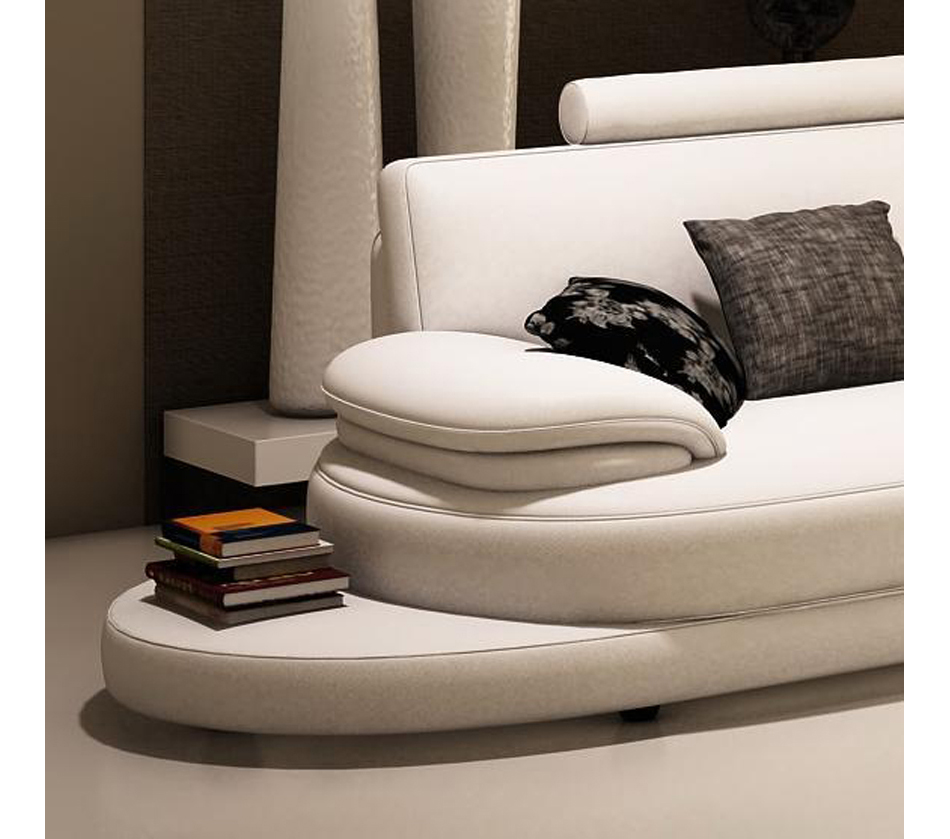 Contemporary Sectional: Contemporary Italian Leather