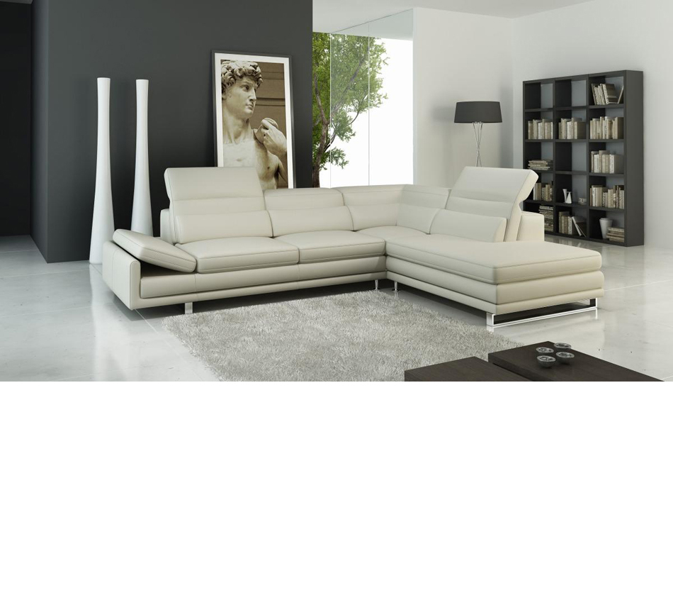 958 modern italian leather for Modern sectional sofas