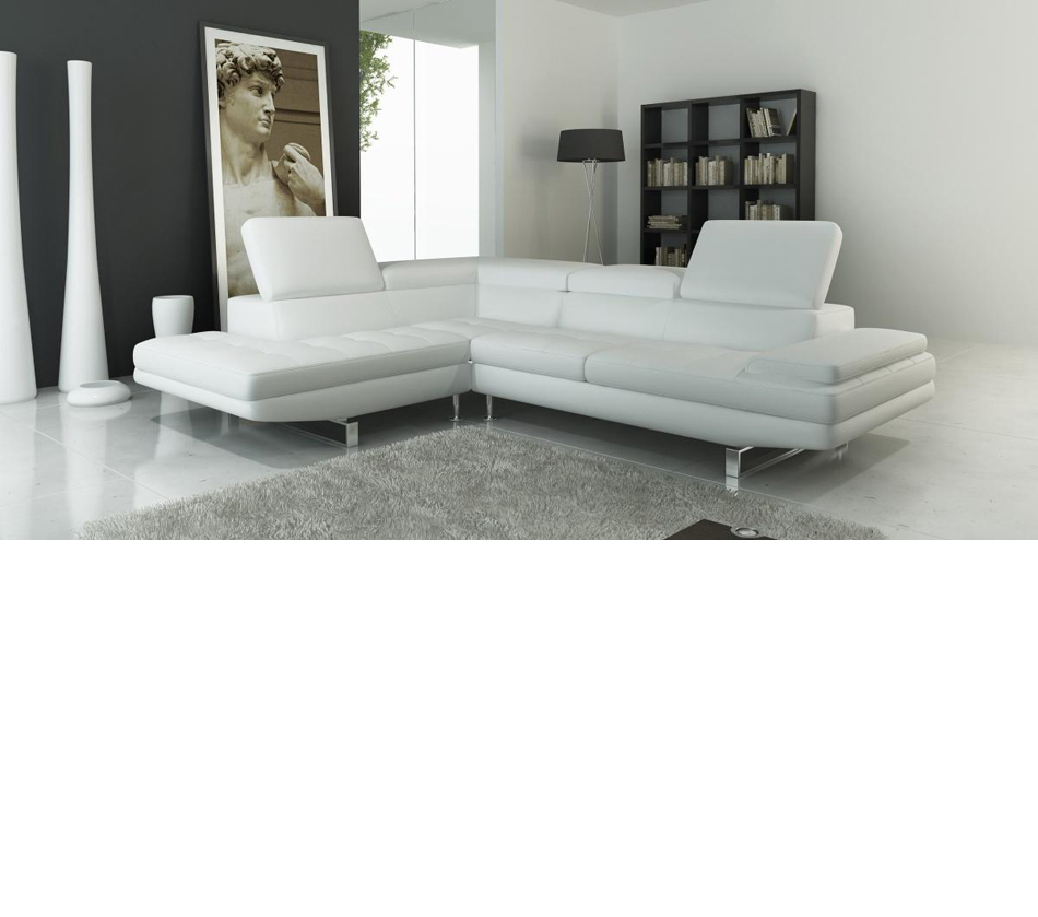 Dreamfurniture Com 959 Modern Italian Leather Sectional Sofa